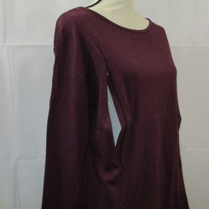 Raisin Top Long Sleeve Size XL Petite 100% Cotton